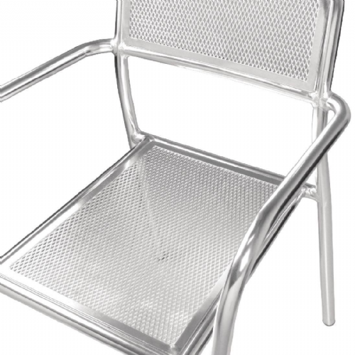 Bolero Aluminium Bistro Stacking Armchairs (Pack of 4) - DP921